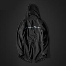 Cool SAO Sword Art Online Long Hoodie Men Black Coat for youth