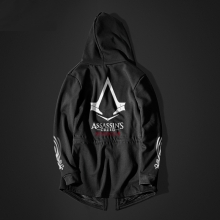 Cool Assassin's Creed Syndicate Long Hoodie Black Men Assassin Hooded Sweater