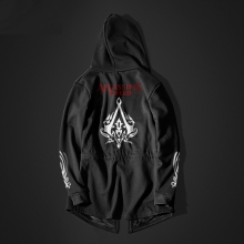 Assassins Creed Style Hoodie Men Long Black Assassin's 'Creed Cosplay Clothing