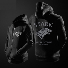 Game Of Thrones House Stark Wolf Hoodie grey direwolf Zipper Sweater