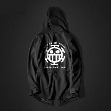 One Piece Trafalgar Law Long hoodie Black Men Hooded Sweatshirt