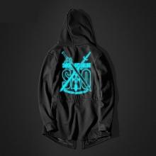 Luminous Sword Art Online Long Hoodie Black SAO Coats for Youth