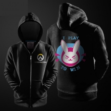 "Lovely Overwatch DVA Hoodie ""i play to win"" D.VA Sweatshirt"