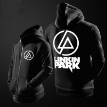 Linkin Park Sweatshirt Mens Black Zip Up Hoodie