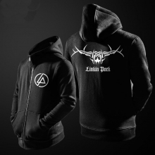 Linkin Park Zip Hoodie For Boys Black Sweater