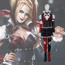 Original Batman Cosplay Costume Arkham Asylum City Harley Quinn Dress