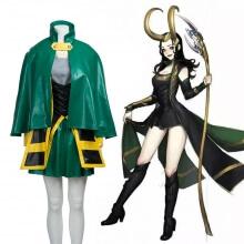 Marvel The Avengers Thor Female Loki Cosplay Costume