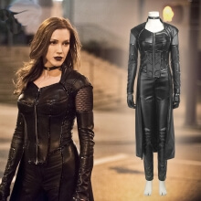 Green Arrow 5 Black Canary Cosplay Costume Dinah Laurel Lance Leather Suit