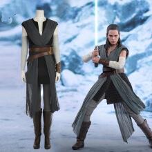 Movie Star Wars The Last Jedi Grey Rey Costume Women...