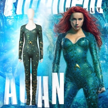 Aquaman Cosplay Costume Women Mera Costume