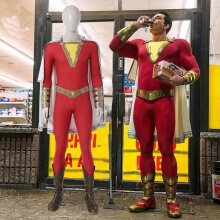 Quality Captain Marvel Shazam Cosplay Costume Shazam  Jumpsuits