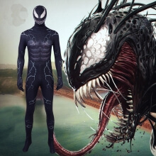 Venom Edward Brock Jumpsuits Spiderman Venom Cosplay Costume