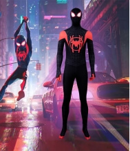 <p>Spiderman Miles Morales Cosplay Into The Spider Verse Halloween Costume</p>