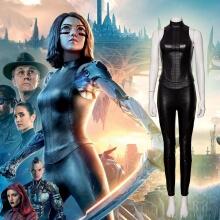 Alita Battle Angel Cosplay Women Pants Sets Faux Leather Holloween Costumes