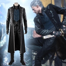 DMC 5 Game Vergil Cosplay Devil May Cry Coat