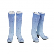 Quality Elsa Boots Elsa Cosplay Blue Shoes