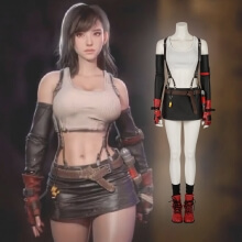 Game Costume Final Fantasy VII Remake Tifa Lockha Cosplay Costume