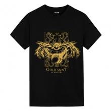 Cancer Black Tee Shirt Saint Seiya Japanese Anime T Shirts