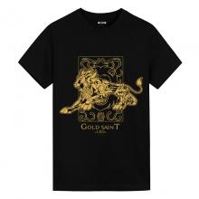Saint Seiya Leo Black T-Shirts Anime T Shirt Design