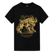 Saint Seiya Taurus Black Tees Cute Anime Shirts