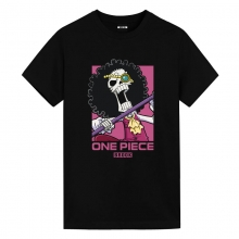 One Piece Brook Tshirts Vintage Anime T Shirts
