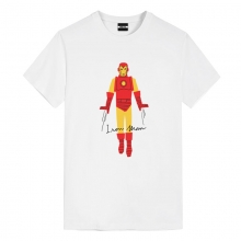Tee Shirt Iron Man White Marvel T Shirt