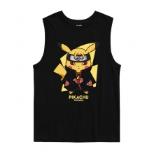 Pokemon Uchiha Itachi Pikachu Tank Tops Tshirt Plus Size Anime Clothes