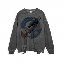 <p>Rock Pink Floyd Tees Ripped Long Sleeve T-Shirt</p>