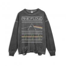 <p>Ripped Long Sleeve Shirts Rock Pink Floyd T-Shirts</p>