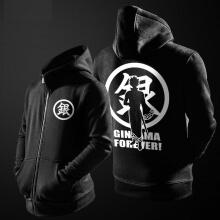 Quality Gintama Sweatshirt Mens Black Zipper  Hoodie