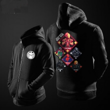 Agents of Shield Sweater Mens Black Hoodies Cool