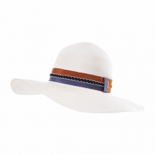 Female Summer Colorful Panama Straw Hat Personalized Customized Travel Sun Hat 100% Panama Grass