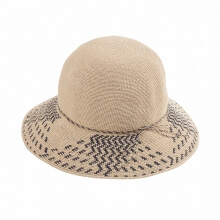 Ladies Summer Travel Wild Straw Hat Handmade Portable Beach Holiday Sun Hat Beige
