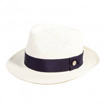 Female Summer Panama Hat England Fashion Hat Travel Wild Sun Hat Blue Black Handmade