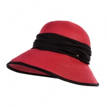 Summer Female Outdoor Sun Hat Dome Anti-UV Travelling Hat Portable Straw Hat Ladies Red