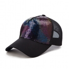 Ladies Summer Baseball Caps Wild Sequins Cap Travelling Summer Sun Hats 100% Cotton