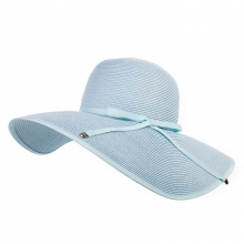 Summer Ladies Big Straw Hats Blue Bow Tie Anti-UV Beach Hat Outdoor Sun Hats Girls