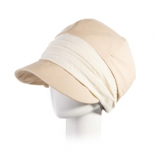 Beige Female Elegant Beret Hat Leisure Anti-UV Octagonal Cap Womens Outdoor Travel Fisherman Sun Hats