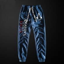 Assassin's Creed Sweatpants Men Blue Pencil Pants