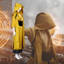 Doctor Strange Ancient One Costume Yellow Combat Outfit Cosplay Costume