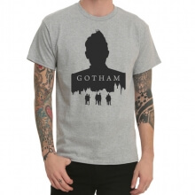 Batman Gotham City Brown Print T-Shirt Trend