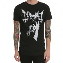 Black Metal Tshirt Mayhem Rock Band Tee