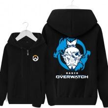 Blizzard Overwatch Hanzo Sweatshirt Mens Black Hoodie