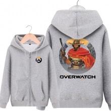 Blizzard Overwatch Mccree Sweatshirt Men Grey Hoodies