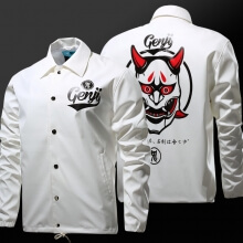Blizzard Overwatch Oni Genji Mask Jacket  OW Hero Cosplay Clothing