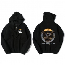 Blizzard Overwatch Reaper Hooded Sweatshirts Men Black Hoodie