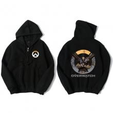 Blizzard Overwatch Reaper Hooded Sweatshirts Men Black Hoodie