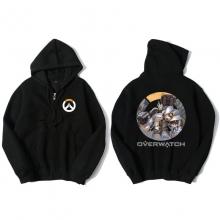 Blizzard Overwatch Reinhardt Sweatshirt Men Black Sweater