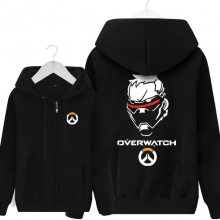 Blizzard Overwatch Soldier 76 Hoodie For Boys Black Sweater