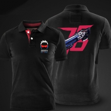 Blizzard Overwatch Soldier 76 Polo Shirt OW Game Hero Polo T Shirt